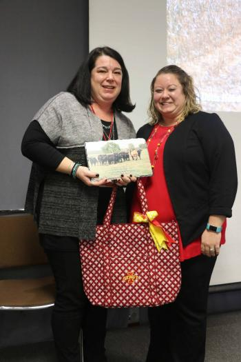Cortney Garrington was recognized with a County Professional Excellence award on April 3, 2018.