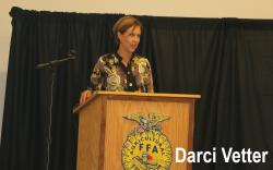 Darci Vetter, former chief agricultural negotiator for the U.S. Trade Representative and diplomat in residence at the University