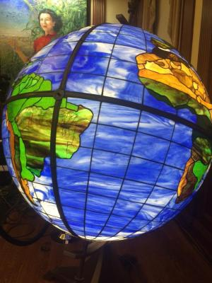 Stained Glass Globe at World Food Prize, Photo by Morgan Ball