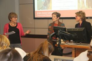 Dr. Carmen Bain introduces Cheryl Tevis and Madeline Schultz for Women in Agriculture and the Food System (SOC350X).