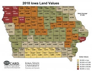 2018 Iowa Lande Values
