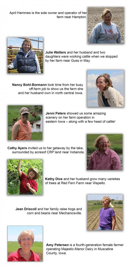 Eight Women Impacting the Land will be featured at the 2016 Farm Progress Show.
