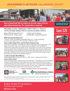 2018 Women in Ag Tours • Allamakee County • September 7, 2018