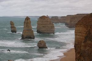 12 Apostles rock formations on the coast of southern Victoria, Australia.
