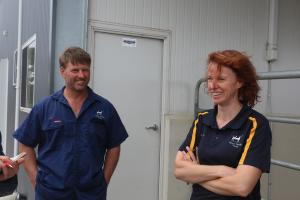Symone and Phil Vines of Victoria, Australia discuss their robotics system for dairy cattle.
