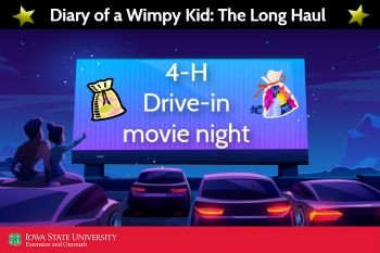 Drive-in movie graphic