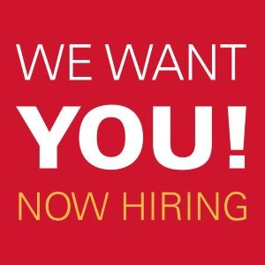 We want you! Now hiring