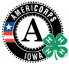 AmeriCorps Iowa logo with 4-H clover